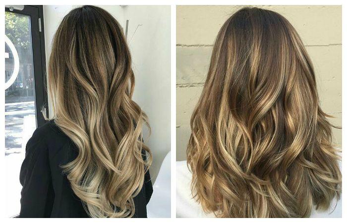 Окрашивание волос балаяж на русые волосы, фото