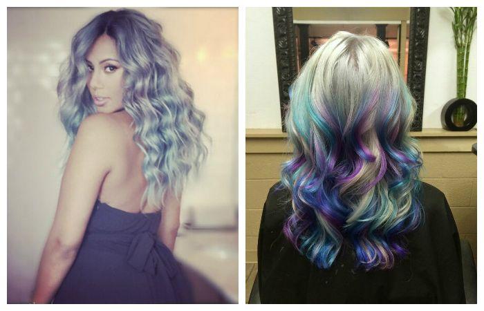 Креативная покраска волос, фото