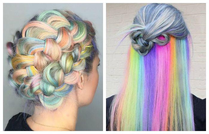 Цветная покраска волос, фото