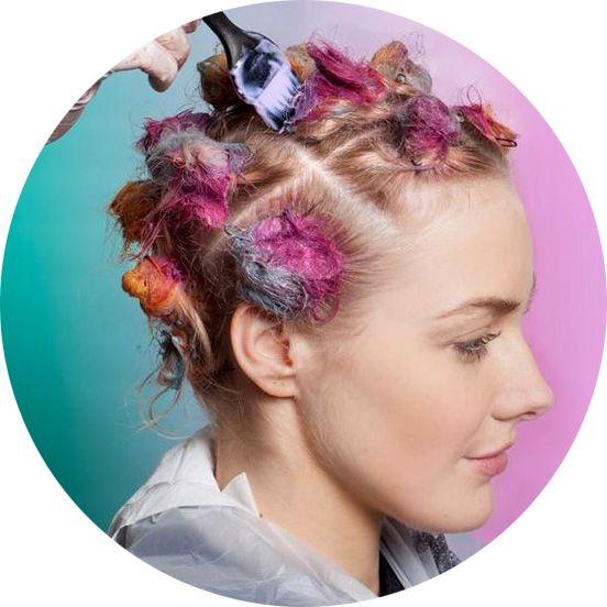 Покраска волос, фото