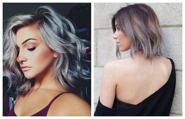 Модные серные оттенки волос, фото