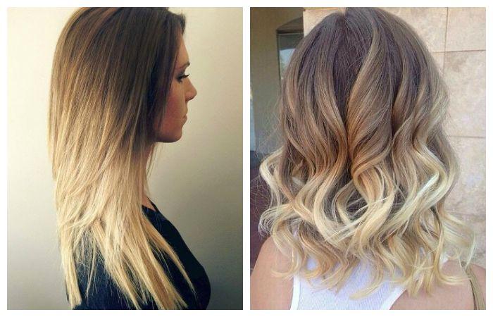 Покраска волос в технике омбре, фото