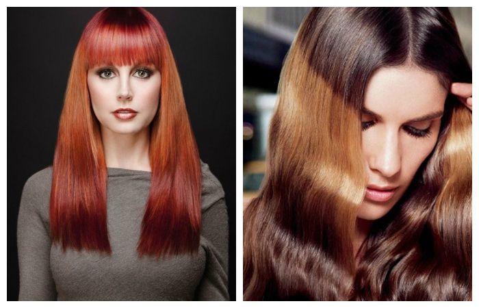Покраска волос в технике градиент, фото