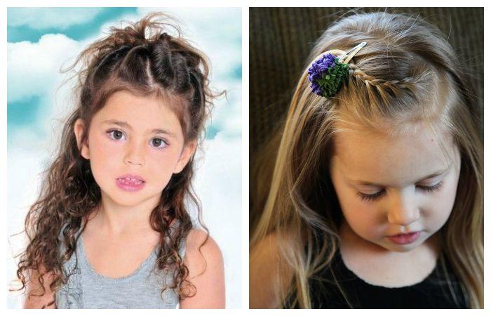 Прически детские с длинными распущенными волосами, фото