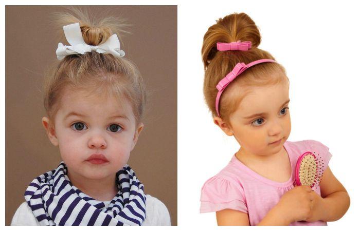 Прически детские для самых маленьких, фото