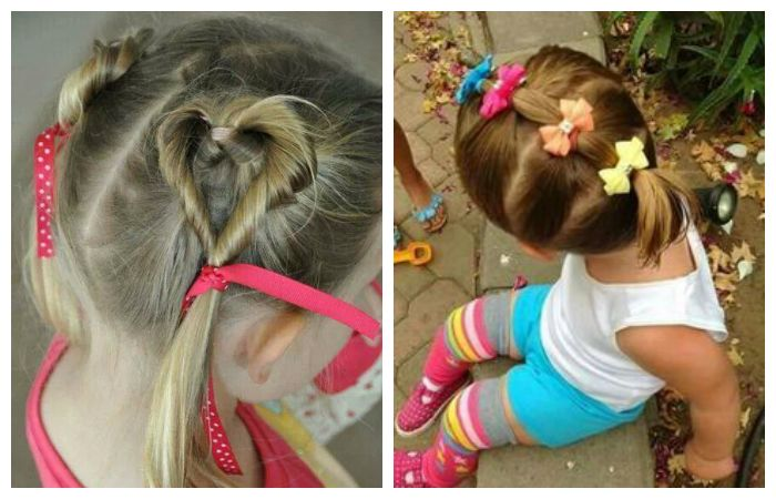 Прически для девочки с хвостиками в садик, фото