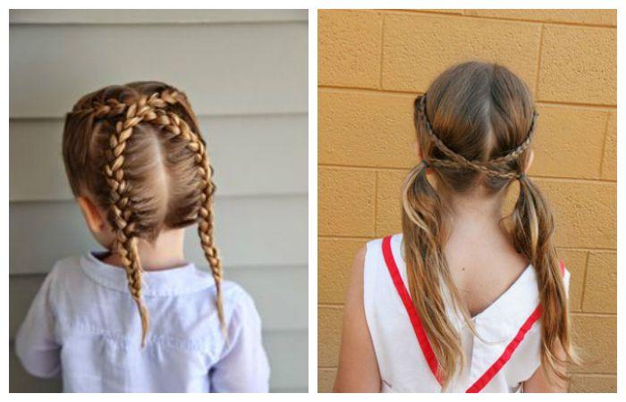 Прически с перекрестными косами, фото