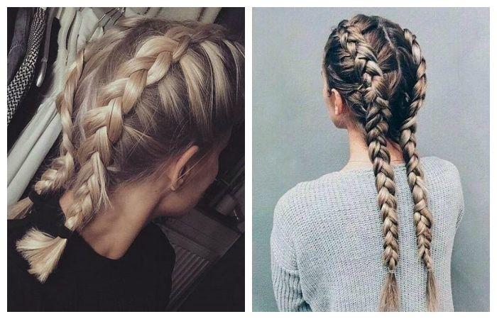 Две косы по бокам, фото