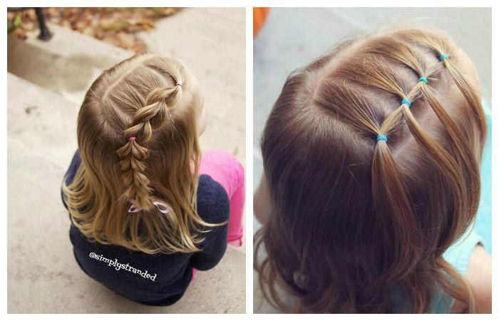 Прическа в школу на длинные волосы