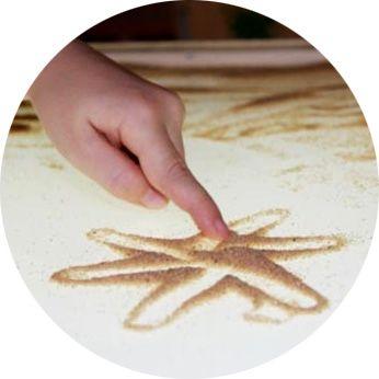 Рисование песком, фото