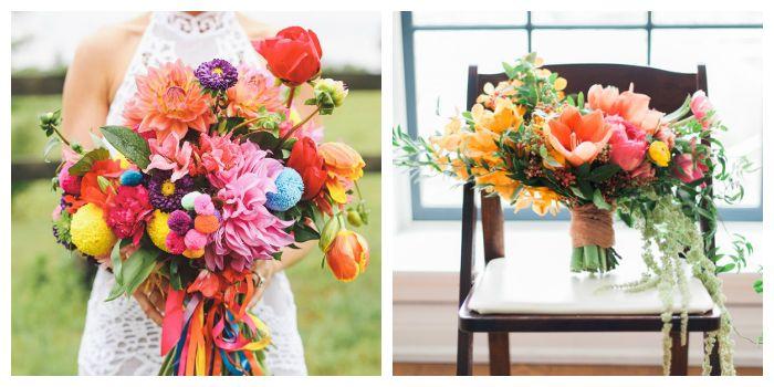 Модные цветы и букеты, фото