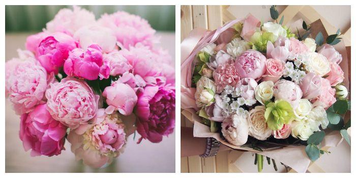 Цвет 2017 года - розовый. Модные розовые букеты, фото