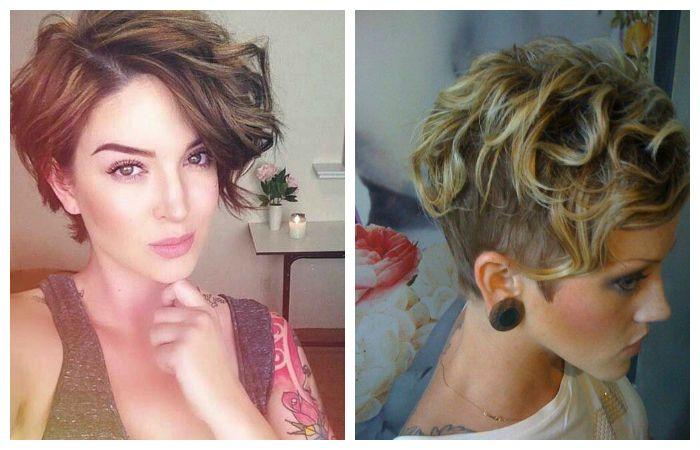 Модная укладка коротких волос, фото