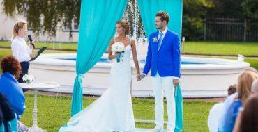 Выездная церемония на свадьбе