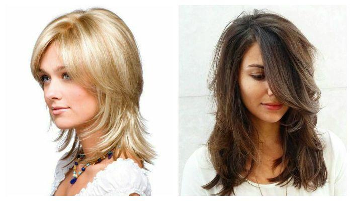 Варианты красивой стрижки на средние и длинные волосы, фото