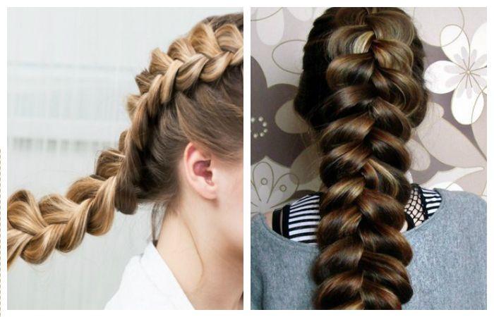 Обратная французская коса: прически