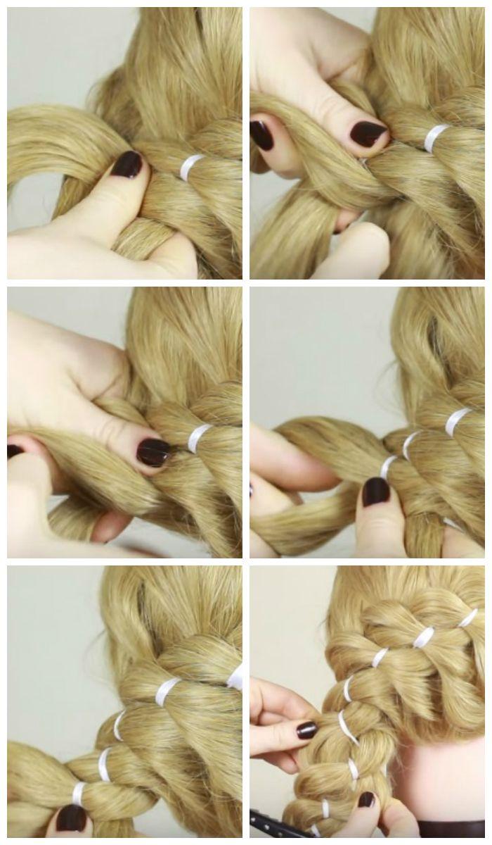 Плетение кос на длинные волосы пошаговое фото