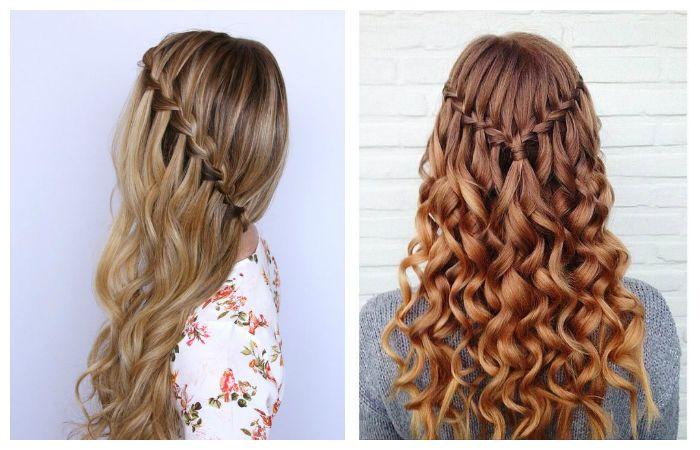 Коса Водопад на волнистые волосы