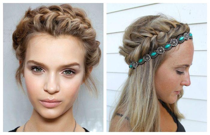 Красивое плетение косы вокруг головы
