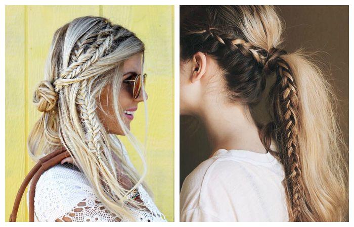 Плетение кос в стиле бохо
