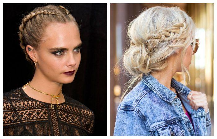 В моде как объемное , так и тугое плетение кос