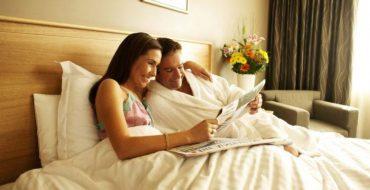 Интерьер спальни: красивое постельное белье