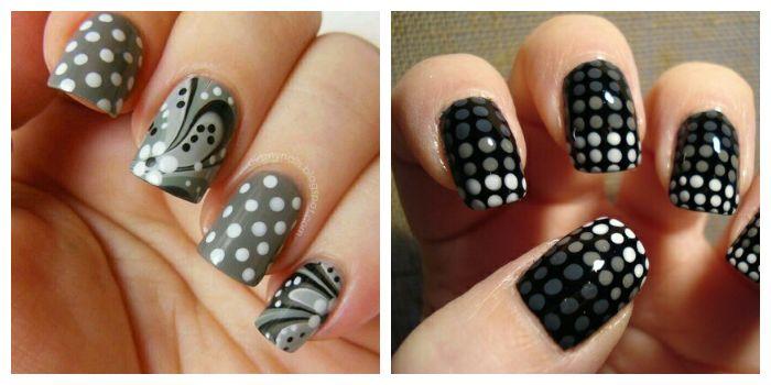 Простые рисунки на ногтях гель-лаком и дотсом для начинающих