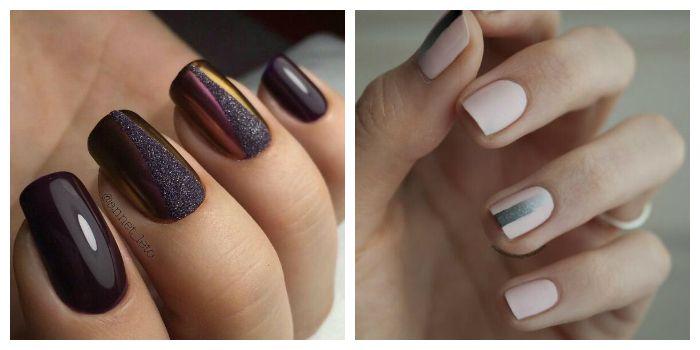 Рисунки на ногтях гель-лаком и скотчем