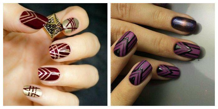 Трафаретные рисунки на ногтях гель-лаком