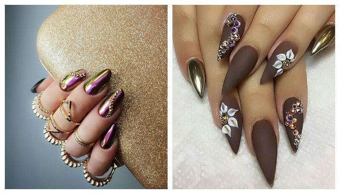 Зеркальный дизайн ногтей, фото