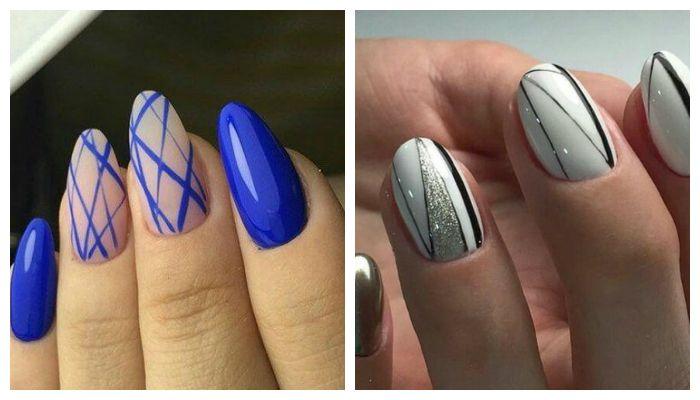 Рисунки на ногтях в виде линий