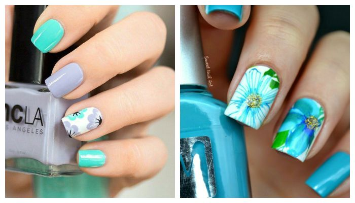 Весенние рисунки на ногтях