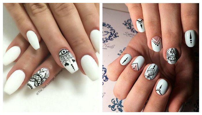 Этнические рисунки на ногтях