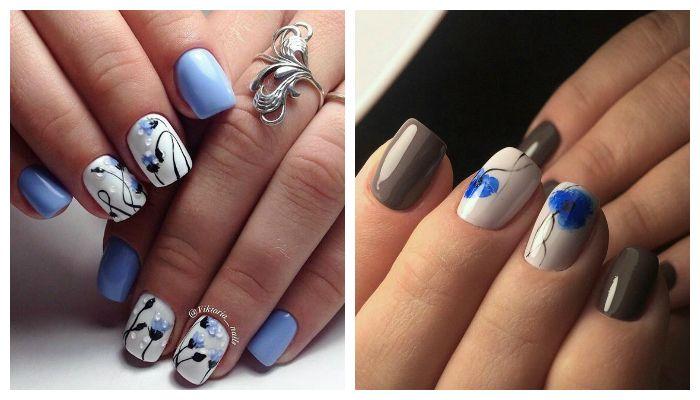 "Рисунки на ногтях ""веточки"""