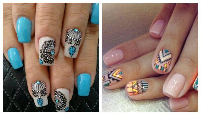Этно рисунки на ногтях
