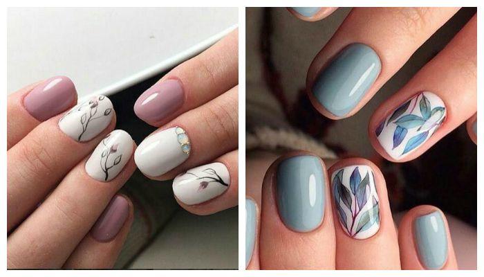 Рисунки на ногтях, весна 2017