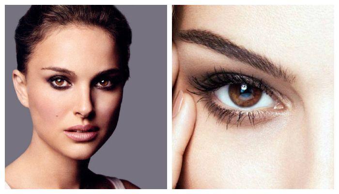 Варианты вечернего макияжа для карих глаз
