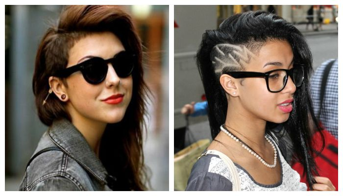 Варианты hair tatoo для стрижки на средние волосы