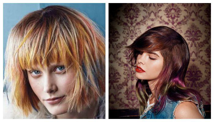 Модное окрашивание стрижки на волосы средней длины