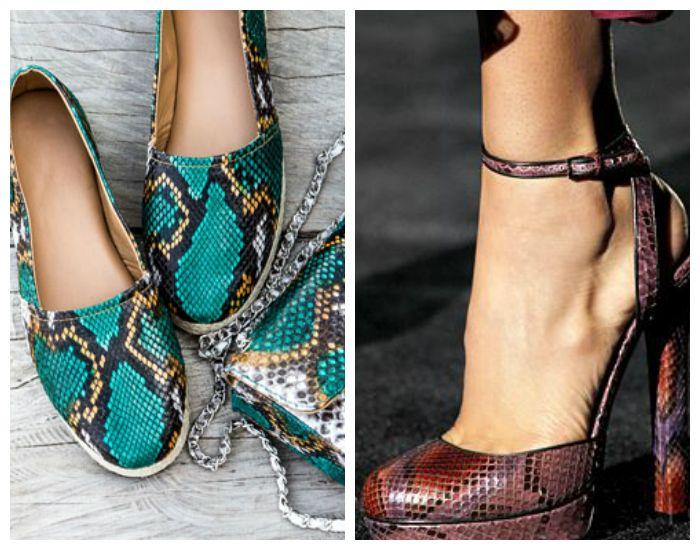 Модная обувь из кожи питона весна-лето 2017