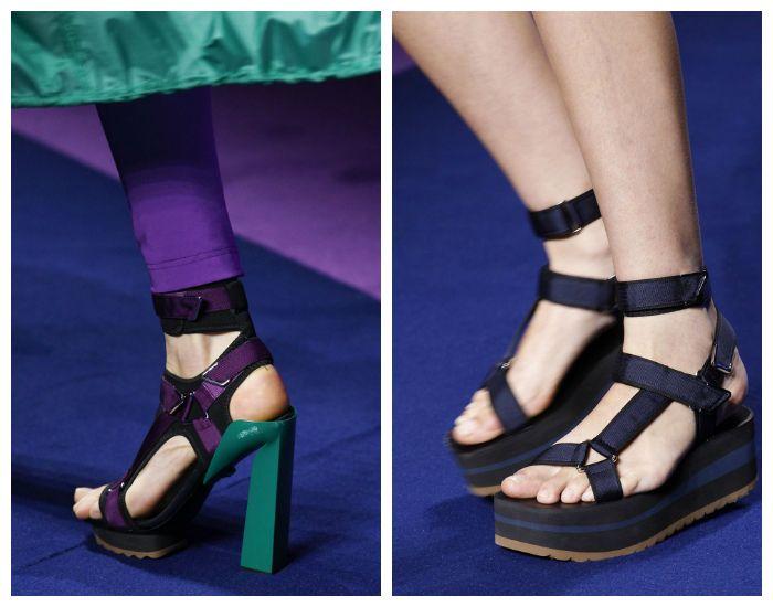 Модная обувь в спортивном стиле весна-лето 2017
