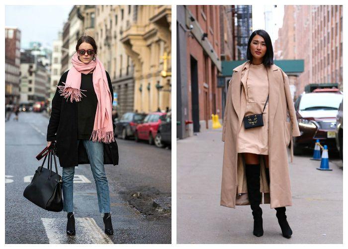 С чем носить пальто весной 2017