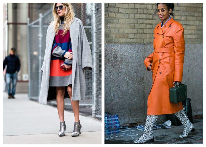С какой обувью носить пальто весной 2017