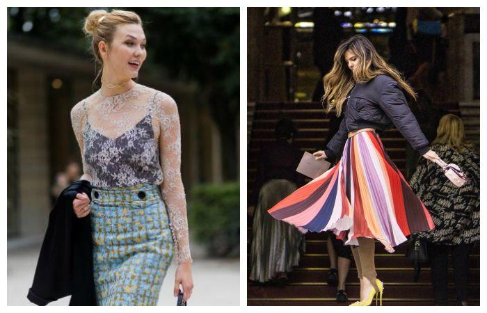 Длинные юбки весна 2017