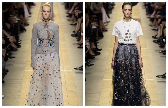 Прозрачные юбки весна - лето 2017