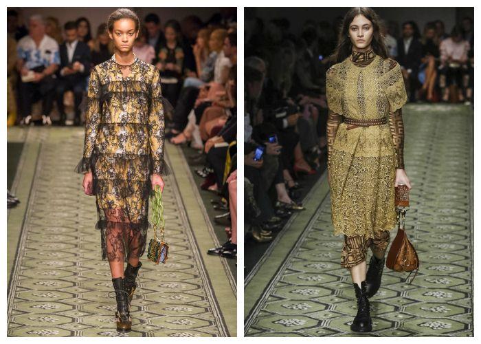 Летние платья из коллекции Burberry