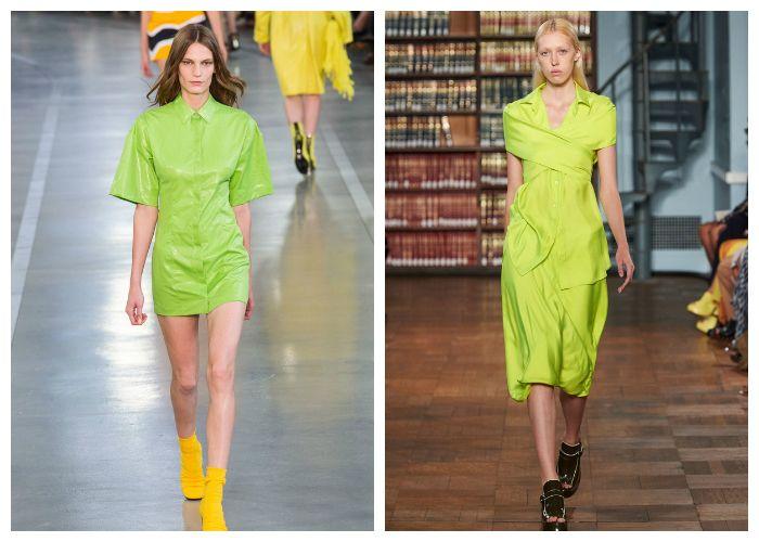 Модные цвета летних платьев