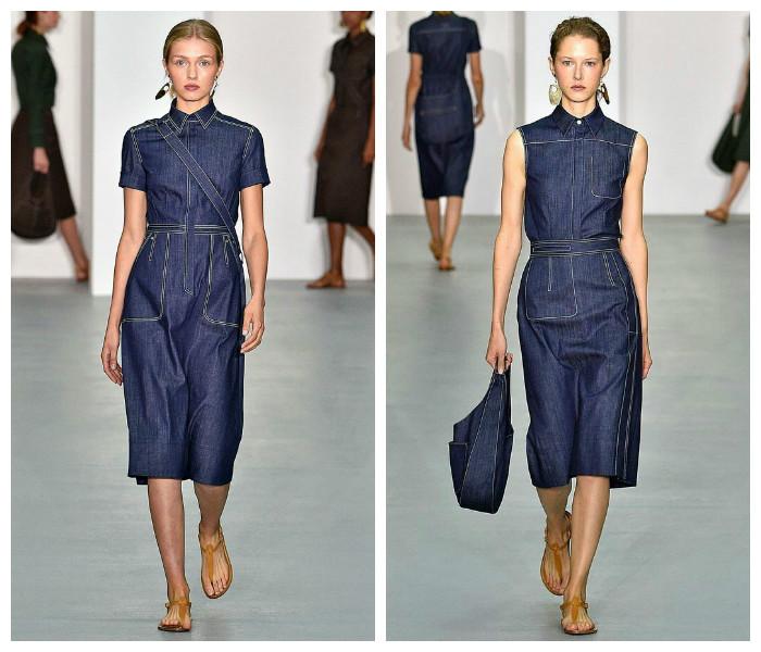Летние джинсовые платья, фото