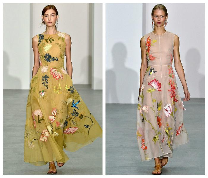 Летнее платье с цветочным принтом, фото