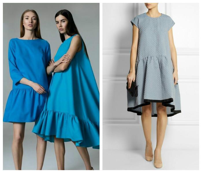 Платье воланами модно или нет фото